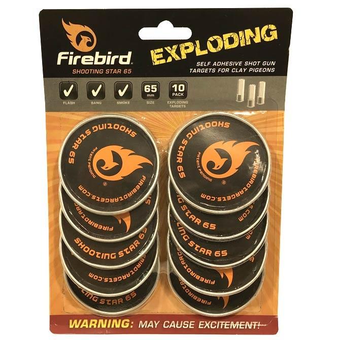 Cibles explosives Firebird Shooting Star 65 mm