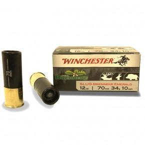 Cartouches Winchester Cal.12-70 Slug Brenneke Emerald 34 g