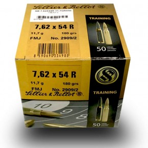 Balles Sellier & Bellot 7.62x54 R, FMJ 11.7 g - 180 grs