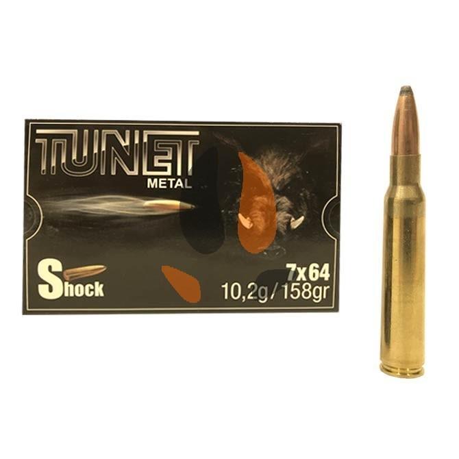 Balles Tunet Métal 7x64 Shock 10.2 g - 158 grs