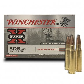 Balles Winchester Cal. 308 Win Power Point Super X