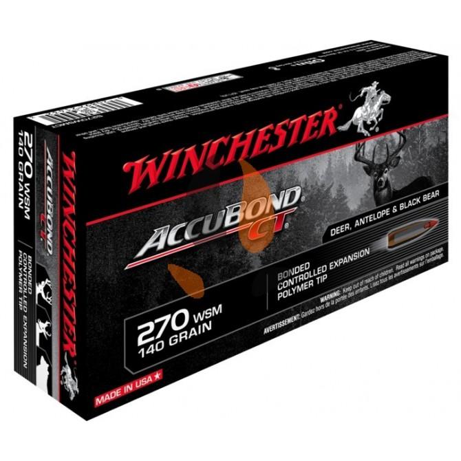 Balles Winchester 270 WSM Accubond CT 140 grs
