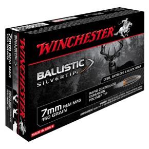 Balles Winchester 7 mm Rem Mag Ballistic Silvertip 150 grs