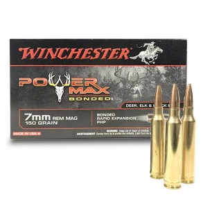 Balles Winchester 7mm Rem Mag 150 Gr Power Max Bonded