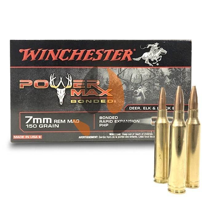 Balles Winchester 7mm Rem Mag 150 Gr Power Max Bonded
