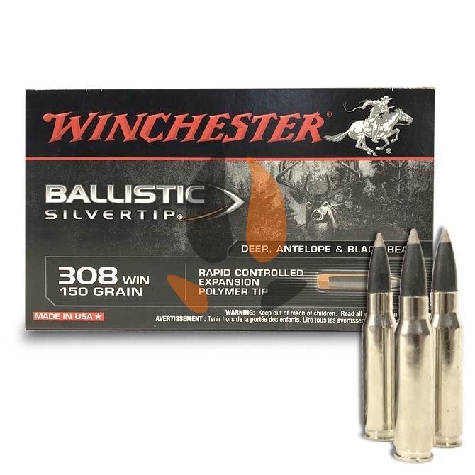 Balles Winchester 308 Win Ballistic Silvertip 150 Gr
