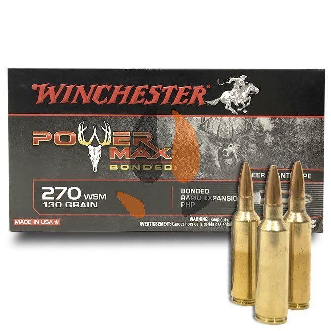 Balles Winchester 270 Wsm Power Max Bonded 130 Gr