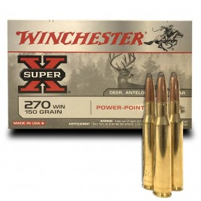 Balles WInchester 270 Win Power Point 150 Grs