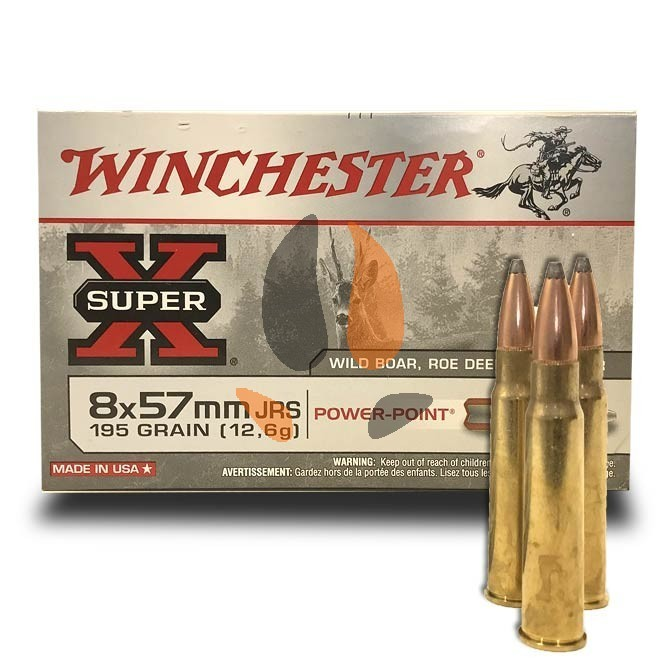 Balles Winchester 8x57 JRS Power Point 195 Grs