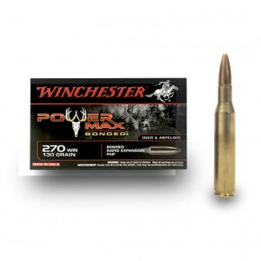 Balles Winchester 270 Win Power Max Bonded 130 gr