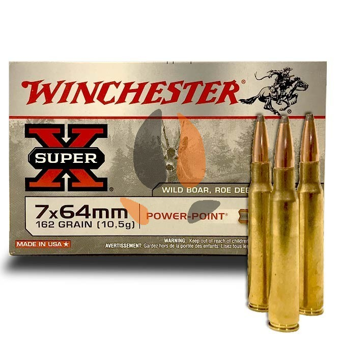 balles Winchester 7x64 Power Point 162 gr