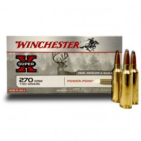 Balles Winchester 270 Wsm Power Point 150 Grs