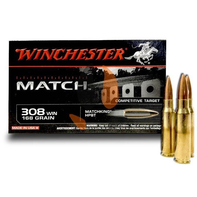 Balles Winchester 308 Win Matchking HPBT 168 Grs