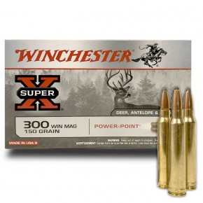 Balles Winchester 300 Win Mag Power Point 150 Grs