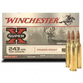 Munitions Winchester 243 Win Power Point 100 Grs