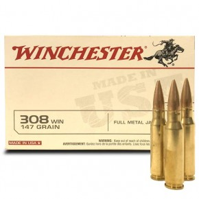 Munitions 308 Winchester Full Metal Jacket 147 Grs