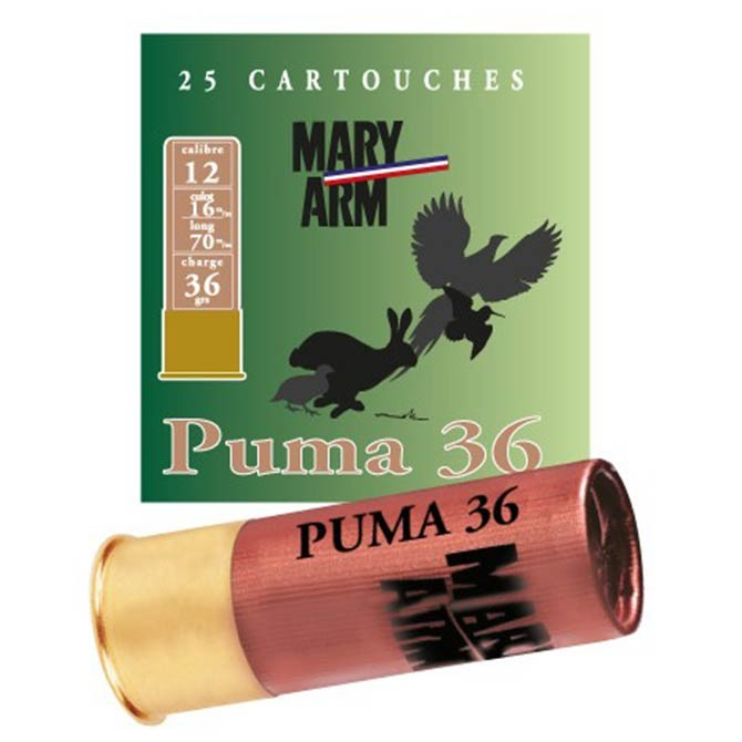 Cartouche Mary Arm Puma 36 Calibre 12