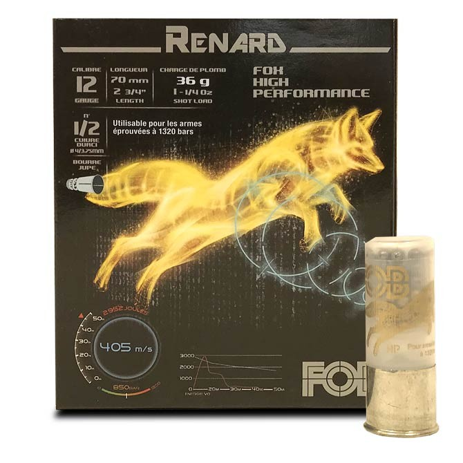 Cartouche Fob Renard calibre 12