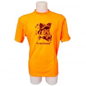 T Shirt Orange Sanglier