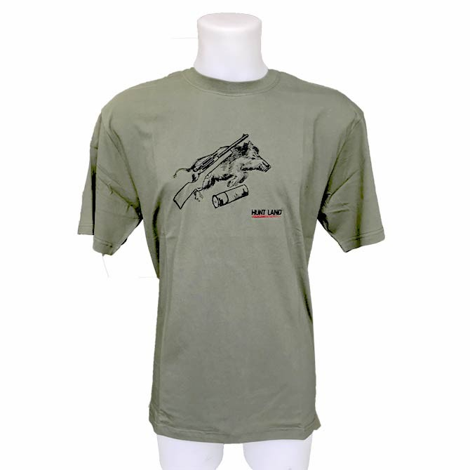 T Shirt Chasse Motif Sanglier