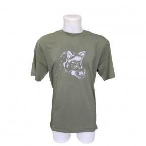T Shirt Chasse pour Enfant Kaky