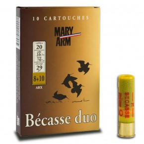 Cartouche Mary Arm Becasse duo 29 Arx cal 20