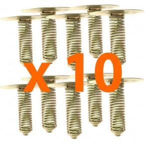 Lot de 10 ressorts pour agrainoir 13 cm