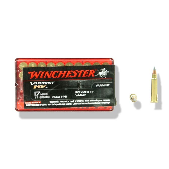 Balles Winchester 17 HMR Varmint HV