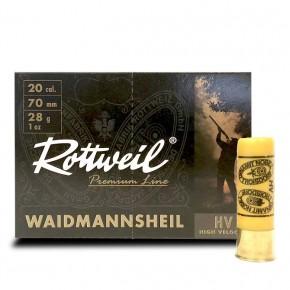 Cartouches Rottweil Waidmannsheil HV calibre 20