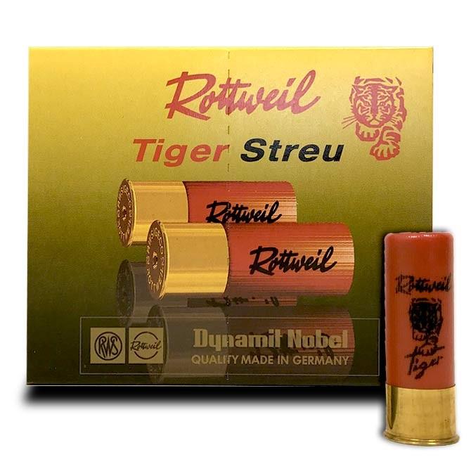 Cartouche Rottweil Tiger Streu Calibre 16 / 67.5