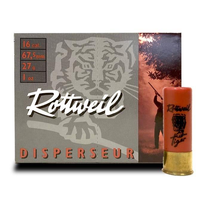 Cartouche Rottweil Tiger Calibre 16 / 67.5 Dispersante