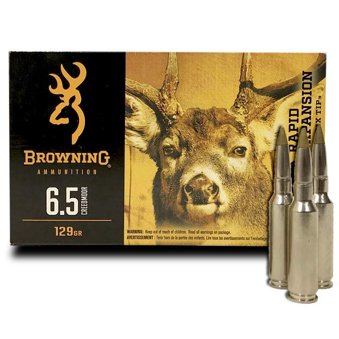 Balles Browning BXR 6.5 Creedmoor 129 grs
