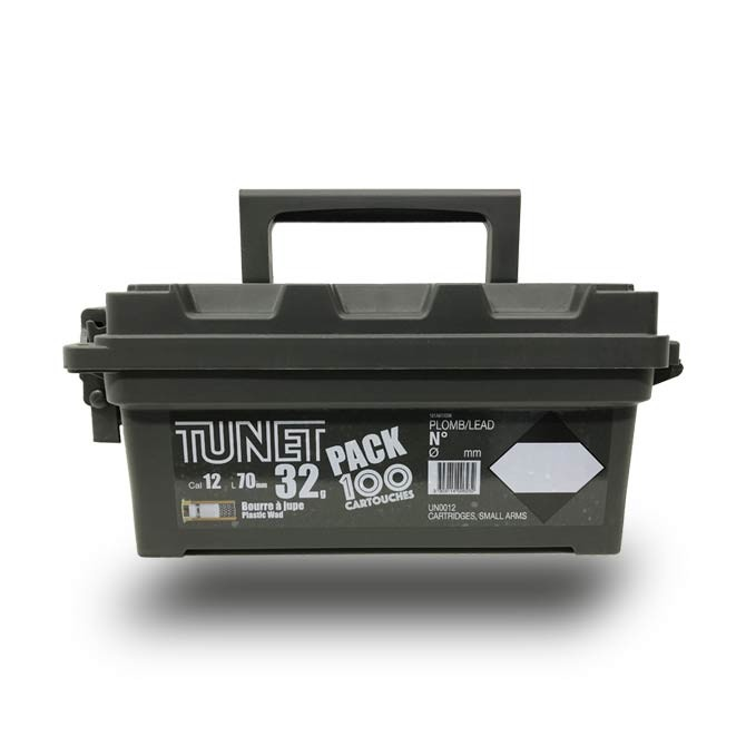 Pack Grive Tunet + Boîte de Transport cal 12