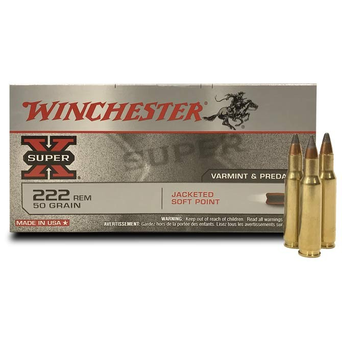 Winchester PSP 222 Rem - 50 Grains