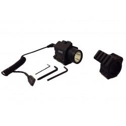 Lampe laser pour rail picatinny Hawke + adaptateur canon