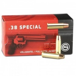 50 Munitions Geco FMJ, calibre .38 Special