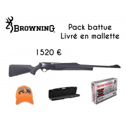 Pack battue CARABINE SEMI-AUTO BROWNING BAR MK3 COMPOSITE FLUTED HC CALIBRE 30-06
