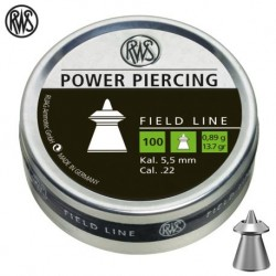 100 plombs RWS Power Piercing, calibre 5.5 mm