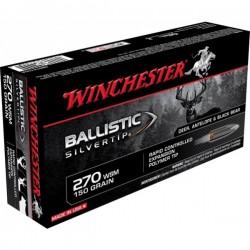 Cartouches à balle Winchester 270 WSM Ballistic Silvertip 150 gr