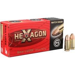 Munitions GECO 9x19 124gr HEXAGON