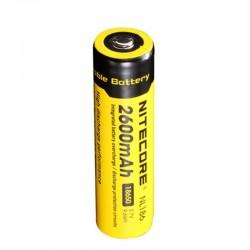 Batterie Nitecore NL1826 18650 - 2600mAh 3.7V protégée Li-ion