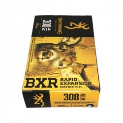 MUNITIONS BROWNING BXR CAL 308WIN 155GR