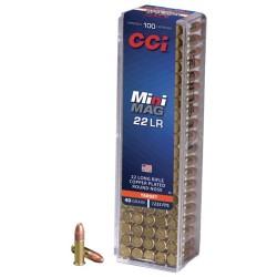MUNITIONS 22 LR CCI MINI-MAG 40GR CUIVRÉE / 100