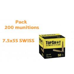 PACK 200 MUNITIONS 7.5X55 SWISS TOP SHOT FMJ