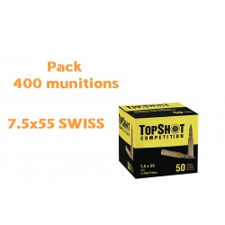 PACK 400 MUNITIONS 7.5X55 SWISS TOP SHOT FMJ