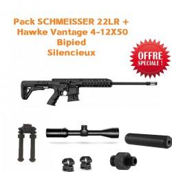 Pack SCHMEISSER 22LR + Hawke vantage 4-12x50