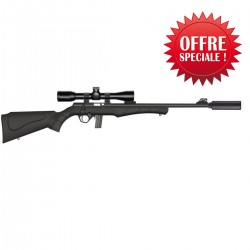 Pack silence ROSSI 17 HMR- Lunette 3-9x40- silencieux- 2 chargeurs