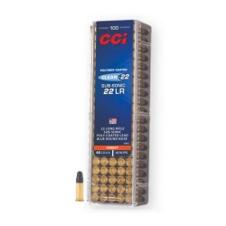 Munition CCI 22LR SUBSONIC TARGET 40GR