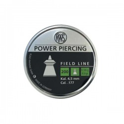 200 plombs RWS Power Piercing, calibre 4.5 mm
