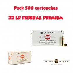 PACK 500 MUNITIONS FEDERAL 22LR COPPER PLATED ROUND NOSE 40 GRAINS